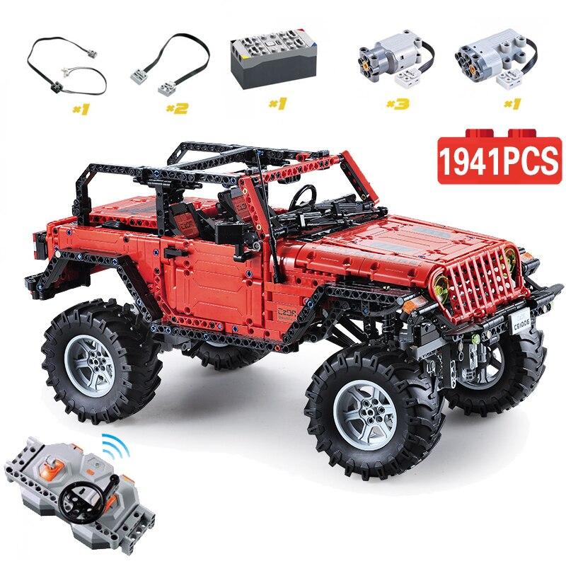 Cada Remote Control 2.4G Adventurer Car 1941pcs legoingly Technic Battery Box Motor Creator Building Bricks Blocks Toy for Boys