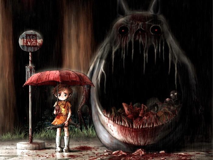 Giật mình khi chú mèo đáng yêu trong My Neighbor Totoro biến hình thành... thần chết - Ảnh 8.