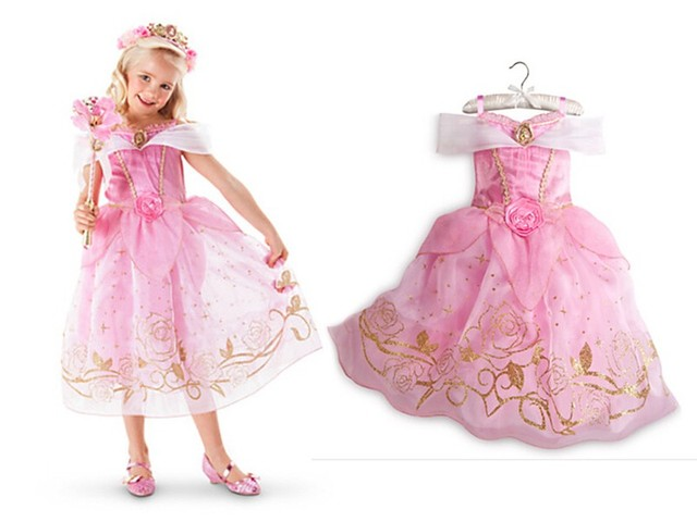 FREE SHIPPING Girls Princess Belle Dresses Kids Cosplay Costume Clothing Children Princess Aurora Sleeping Beauty Part  sc 1 st  AliExpress.com & FREE SHIPPING Girls Princess Belle Dresses Kids Cosplay Costume ...