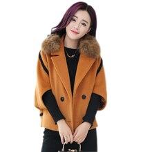 2017 La Venta caliente mujer abrigo de lana de alta calidad chaqueta de invierno  mujeres lana larga sección Abrigos bat mangas C.. eccd464c9dcc