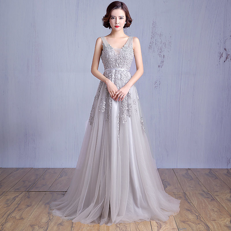 Couture Evening Gowns And Dresses: New Custom Made Silver Applique Haute Couture Sequined
