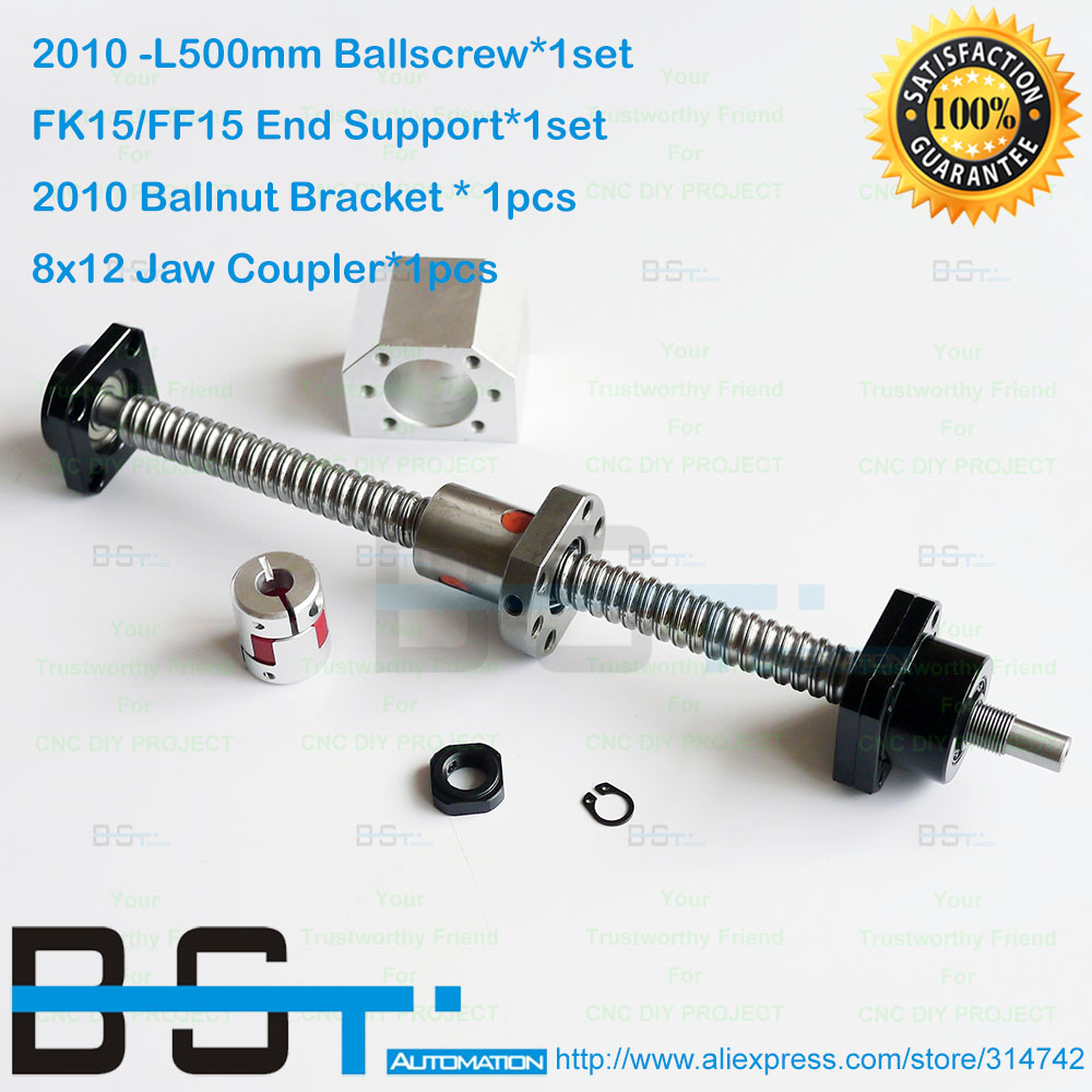Ballscrews 1605-L456//466//486mm-C7 Anti Backlash Rolled Ballscrew for CNC end M