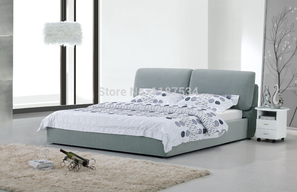 modern bedroom furniture luxury bedroom furniture bed frame king size bed fabric double soft bed E605 ...