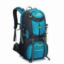 Купить с кэшбэком 50L Waterproof Hiking Backpack Camping Bag Outdoor Travel equipment Sport package Climbing Rucksack Huwaijianfeng