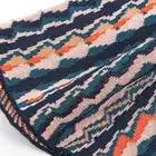 Micosoni Трикотажные зеленые, черные, бежевые, оранжевые вязаные штаны в полоску со средней талией, широкие штаны осень зима 2018 - 3
