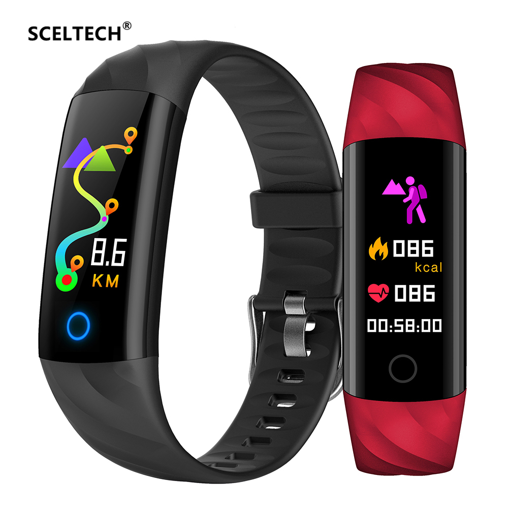 SCELTECH S5 Heart Rate Fitness Bracelet IP68 Waterproof Blood pressure oxygen Monitor Color Screen Activity Tracker Smart Band цена