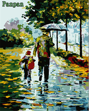 New Frameless DIY Digital Oil Painting by Numbers Modern Abstract Canvas Painting Birthday Christmas Gift 4050 Love the rain