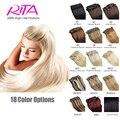 16 Color Available Brazilian Hair Clip In Human Hair Extensions 7pcs Full Head Set Rita Hair Clips Aplique Tic Tac Cabelo Humano