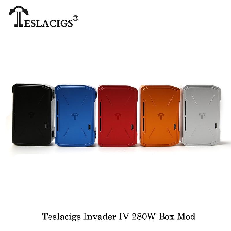 280W Teslacigs Invader IV Tesla Invader 4 Box Mod Electronic Cigarettes Powered By Dual 18650/20700/21700 Battery Vape Vaporizer original tesla invader iv 280w box mod teslacigs e cigarette 18650 20700 21700 battery box mod vape electronic cigarette mods