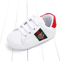 Для новорожденных демисезонный обувь для маленьких мальчиков и девочек классические белые из искусственной кожи малышей теннис милый