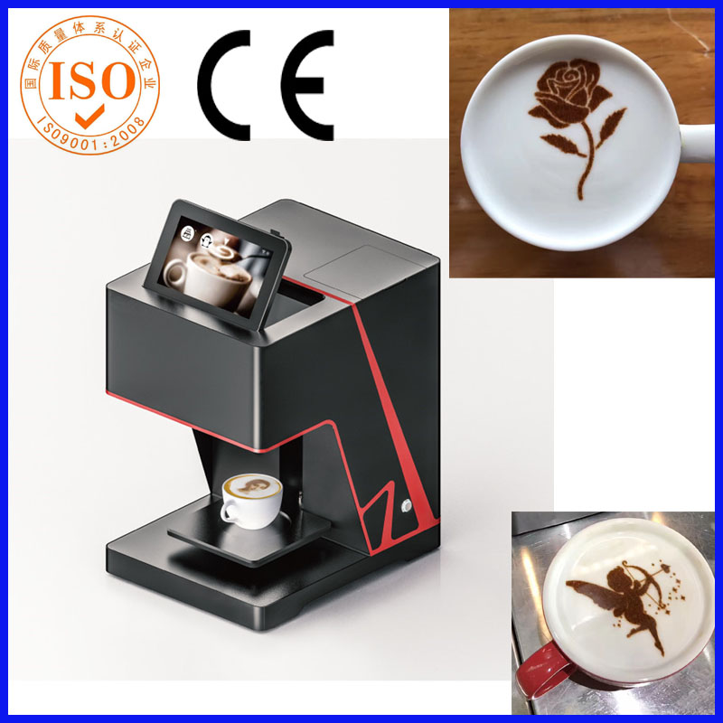 Most popular edible food coffee printer latte art, 3D latte art coffee machine printer with WIFI function flsun 3d printer big pulley kossel 3d printer with one roll filament sd card fast shipping