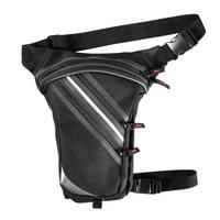 2019 New Motorcycle Leg Bag Waist Pack Belt 2 Layers Waterproof Oxford Motorbike Bag Black For Moto Riding Travel Hiking