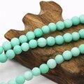 4 6 8 10 12mm Ornaments Blue Natural Amazonite Matting Loose Beads Lucky Stone Jasper Jade Round Diy Jewelry Making Gifts