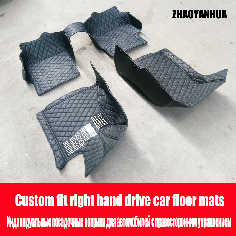 ZHAOYANHUA Car Floor Mats Made For Hyundai 5D Full Cover
