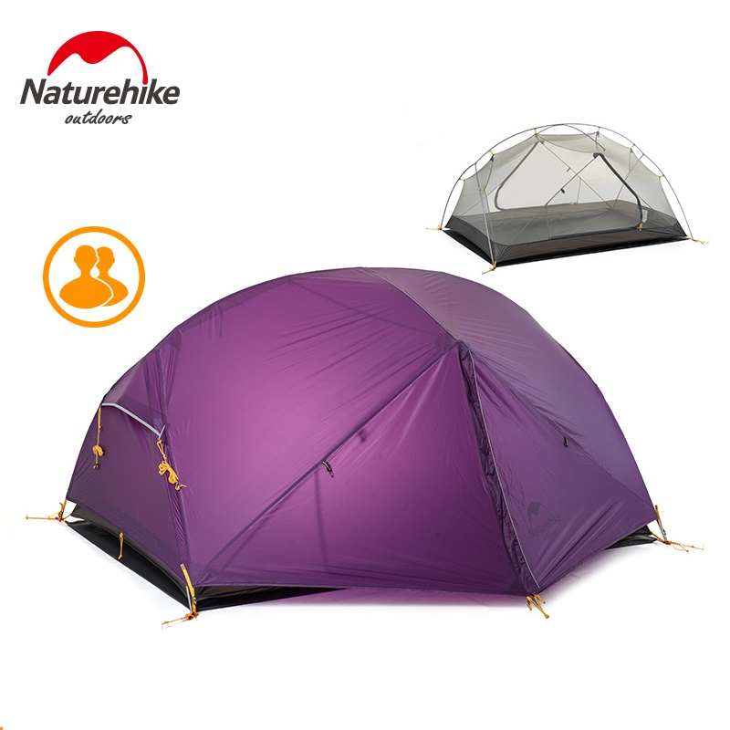 Naturehike Новый Mongar 2 палатки, 2 Человек Палатка Открытый Сверхлегкий человек палатки с вестибюлем