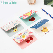 96pcs 12 Style Cute Mini Fresh Cartoon Greeting Card Mid-Autumn Festival Universal Thank You Party Supplies