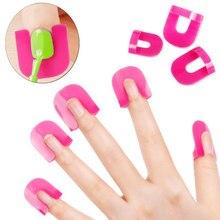 26 sztuk rozmiar kobiety Manicure narzędzia z tworzywa sztucznego żel modelu klip lakier do paznokci klej przepełnienie zapobiegania narzędzie do paznokci tworzyć wysokiej jakości -35