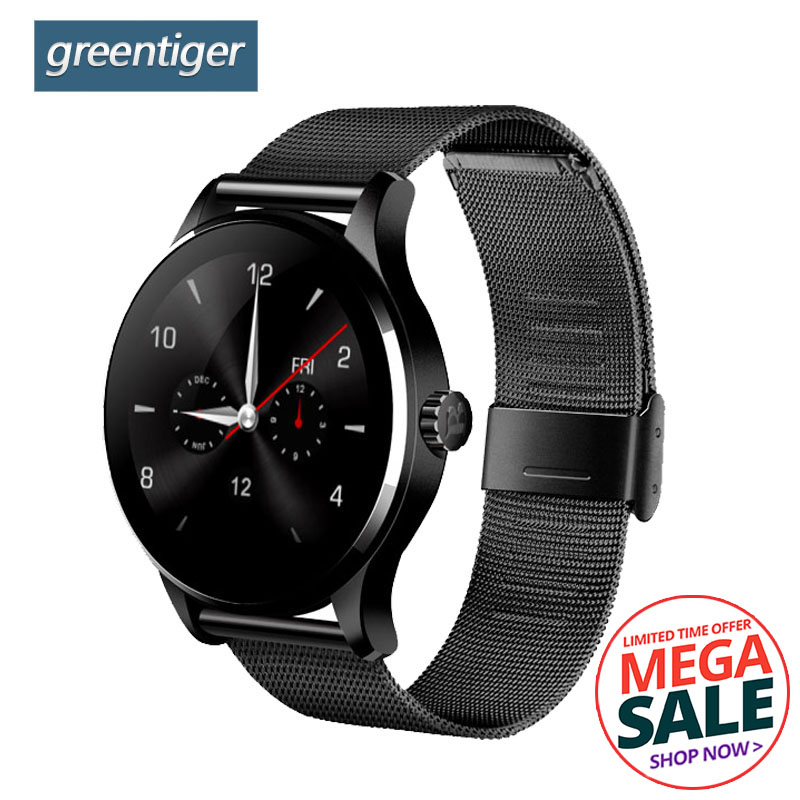 Reloj inteligente Bluetooth Greentiger K88H Monitor de ritmo cardíaco rastreador de Fitness reloj inteligente deportivo pulsera inteligente para Android IOS