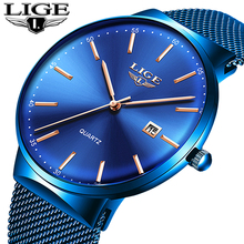 Mens Watches LIGE Top Brand Luxury Waterproof Wrist Watches Ultra Thin Date Simple Casual Quartz Watch For Men Sports Clock Saat fotina casual brand bosck quartz men watch ultra thin waterproof unisex stainless steel women dress ultra thin watches for men