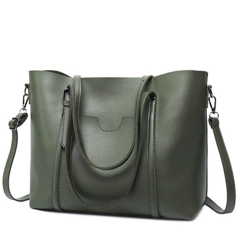 adb699fdc2 LEFTSIDE Brand New 2018 Women Handbags Big Pu Leather High Quality Female  Bag Designer Simple Style