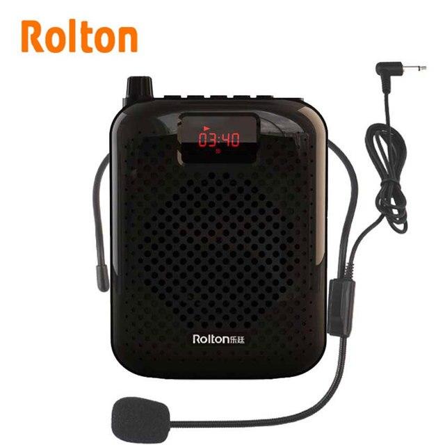 Rolton K500 بلوتوث مكبر الصوت ميكروفون مضخم صوت الداعم مكبر الصوت المتكلم لتدريس مرشد سياحي ترويج المبيعات