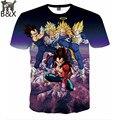 2016 Harajuku tshirt мужчины / женщины аниме Goku дракон мяч забавный печать 3d майка унисекс свободного покроя футболка Большой размер S-XXL
