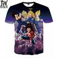 2016 Harajuku tshirt Men/Women Anime Goku Dragon Ball funny Print 3d t shirt Unisex Casual T-Shirt plus size S-XXL