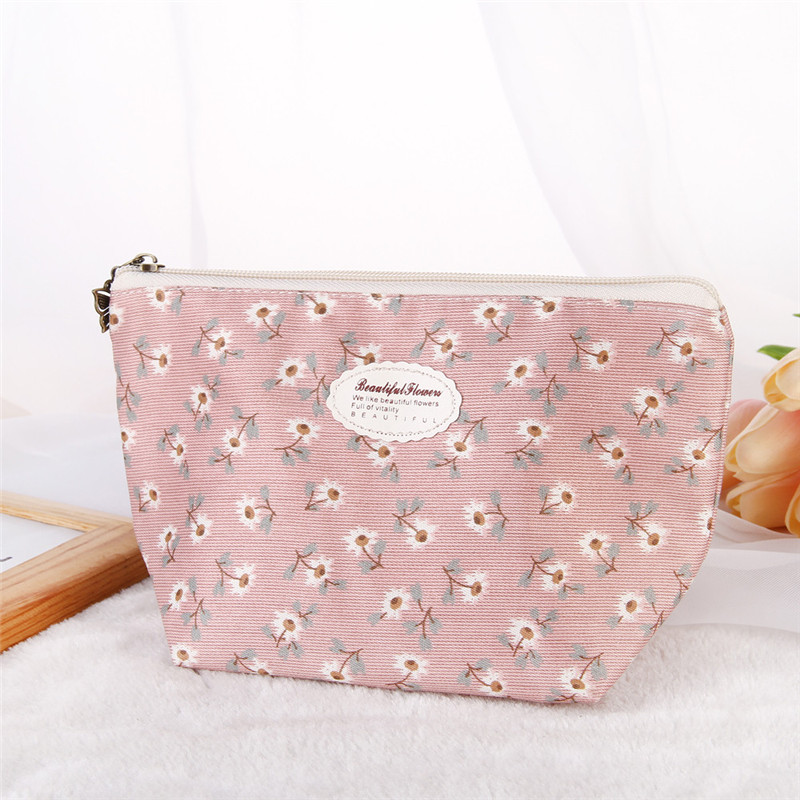 2017 hot sale Flowers Bag Portable Travel Cosmetic Bag Makeup Case Pouch Toiletry Wash Organizer wholesale Free Shipping #55