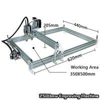 2500 mW Máy Tính Để Bàn DIY Laser Engraver Engraving CNC Máy In nhôm Máy In hợp kim và acrylic Chất Liệu A3 35*50 cm Khu Vực làm việc