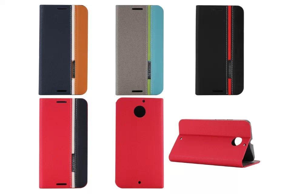 DIYABEI Pour Motorola Moto X + 1X2 XT1097 5.2 tir couverture de porte-cartes en cuir téléphone cas ultra mince portefeuille flip couverture