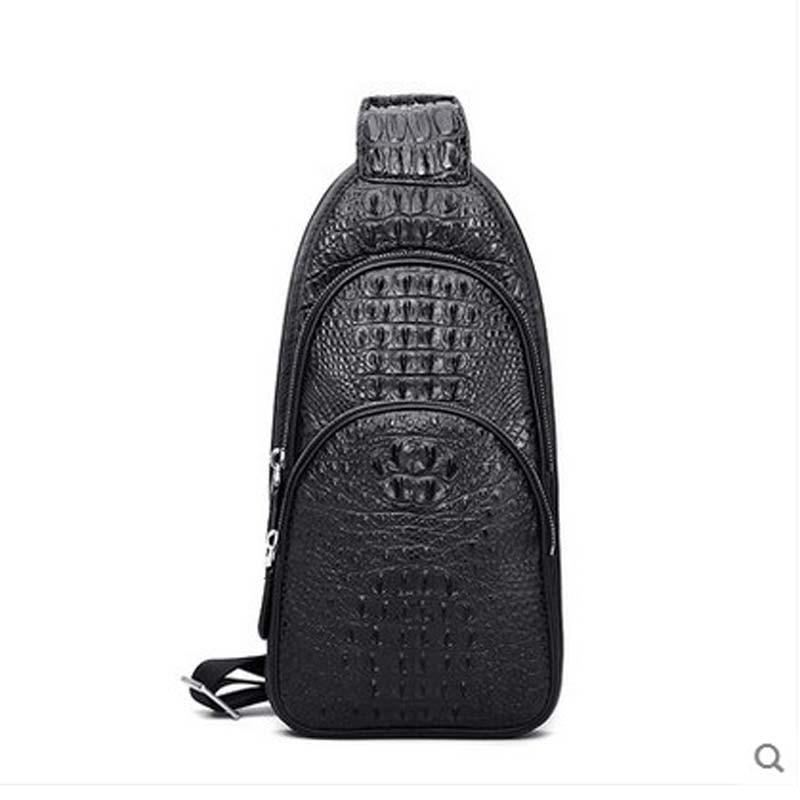 2018 hlt Thai crocodile skin real leather, luxury casual fashion single shoulder crossbale men chest bag man bag dadi1 dadi hlt 102
