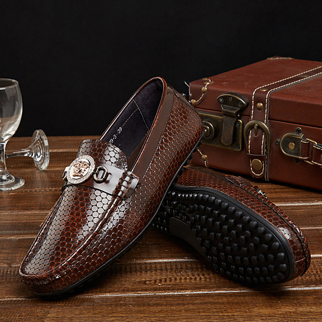 7da068b763 New 2015 men s Oxfords luxury shoes genuine leather flat platform shoes  Italian brand designer business shoes slip on Eur 38~ 44