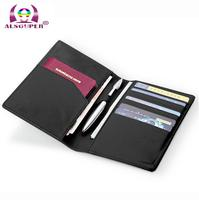 Modern Luxury Brand New 100 Cow Genuine Leather Organizer Men Wallets Card Holder Travel Passport Wallet