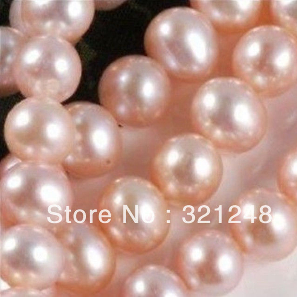 Charms 7-8mm Natural Freshwater Cultured Pink Pearl Nearround Loose Beads High Grade Women Party Prom Gift Diy Jewelry 14ge4503 Beads Beads & Jewelry Making