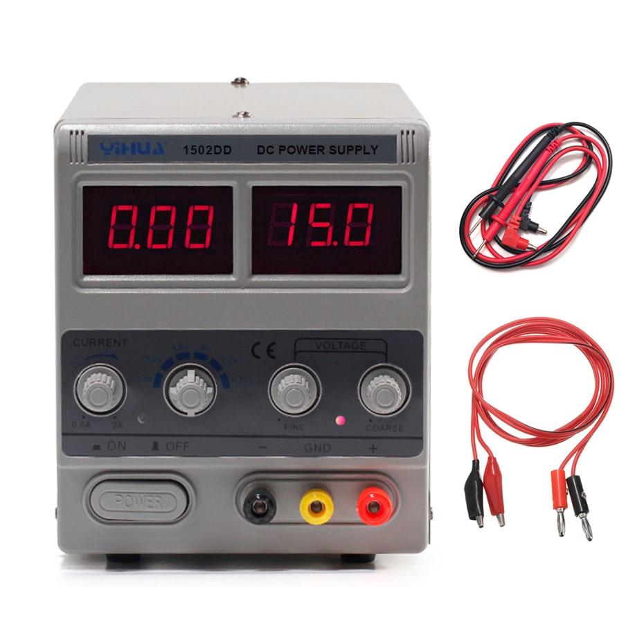 YIHUA 1502DD Mini Laboratory Power Supply Adjustable Digital For Phone Repair 15V 2A Voltage Regulator Switching DC Power Supply