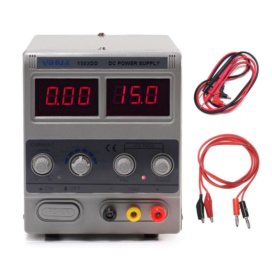 YIHUA 1502DD Mini laboratoire alimentation numérique réglable pour la réparation de téléphone 15V 2A tension régulateur commutation DC alimentation