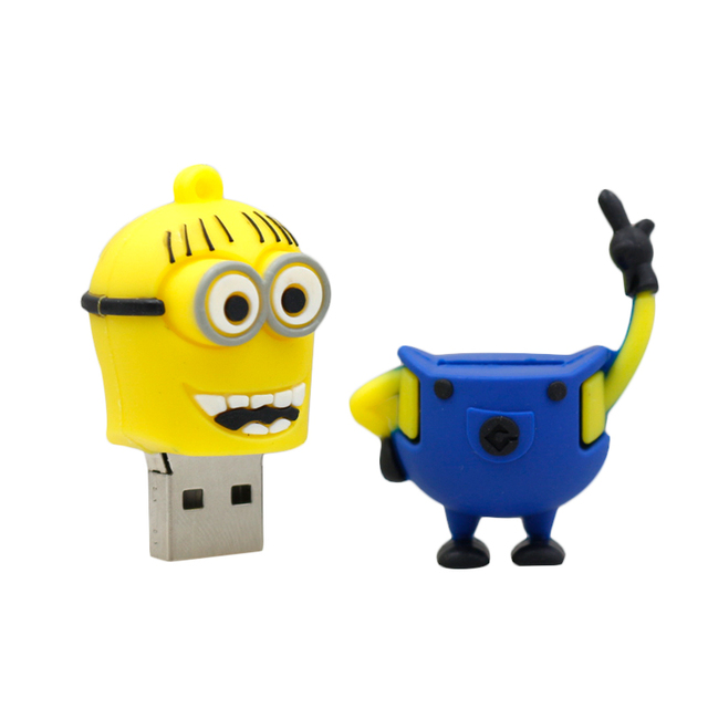 Cute Happy Yellow Minions Flash Drive