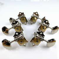 1Set 3R 3L Genuine Vintage Grover Guitar Machine Heads Tuners Chrome Without Original Packaging