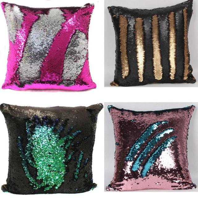 Mermaid Sequin Cushion Cover Sequin Throw Mermaid Pillow Case Home