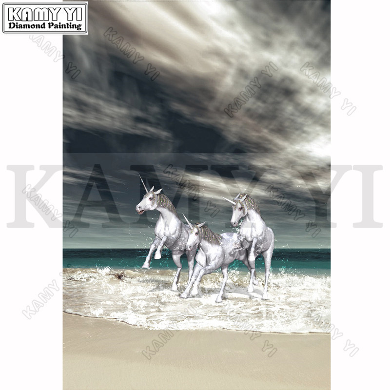 Diamond Embroidery Painting 3D Full Drill Diamond Mosaic Cross Stitch Horses Full Pasted Painting DIY Crafts Decor Animals