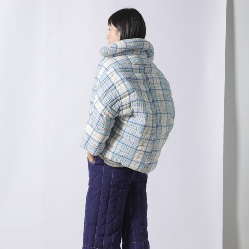 Manteau Mode Plein 2018 Hiver Long Duvet Canard Bouton Picture Bas De Blanc hg Occasionnels Vers Plaid See Dll1144 Corée Le Femmes Couvert Nouveau Manches xWRn56q