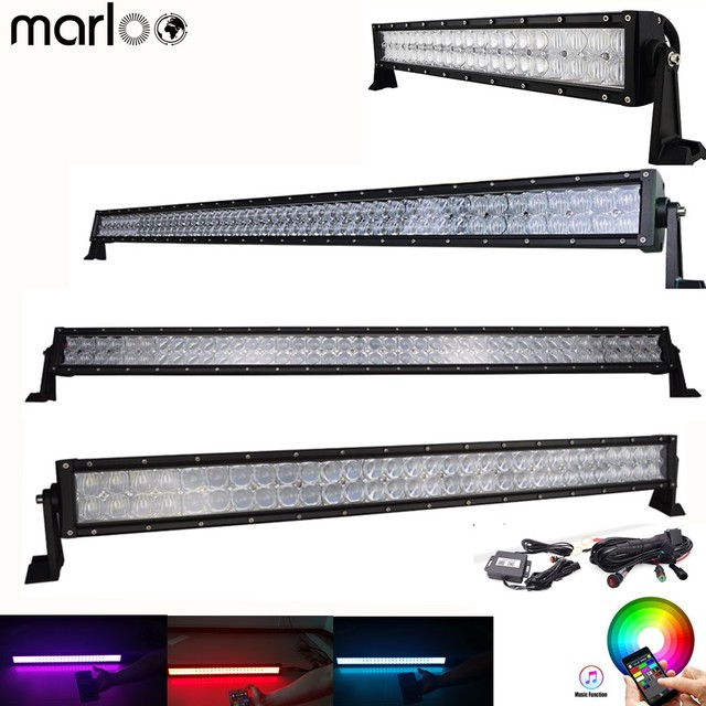 Marloo 5D 22 32 42 50 52 inch 120W 180W 240W 288W 300W Led Light Bar Bluetooth App Control Car 4X4 Boat Truck Work Lamp