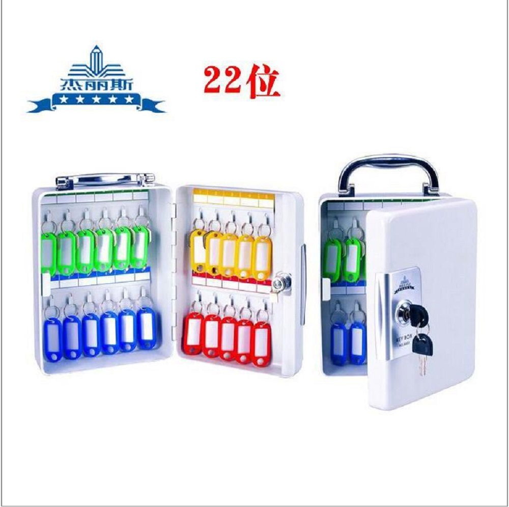 Key Cabinet Lockable Metal Box With 20 Tags Wall Mounted Security Key Storage For Property Management Company Home Office