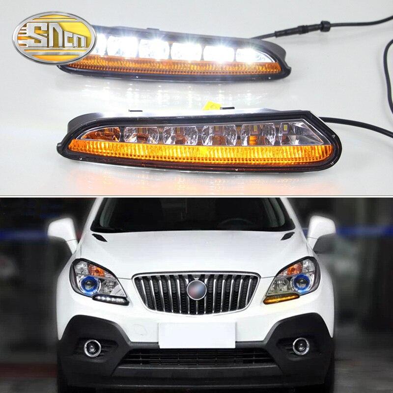 For Opel Mokka 2012 2013 2014 2015 SNCN Turn Yellow Signal Relay Waterproof ABS Car DRL 12V LED Daytime Running Light Daylight