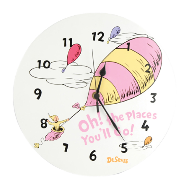 Trend Lab Pink Wall Clock – Dr. Seuss Pink Oh The Places You'Ll Go