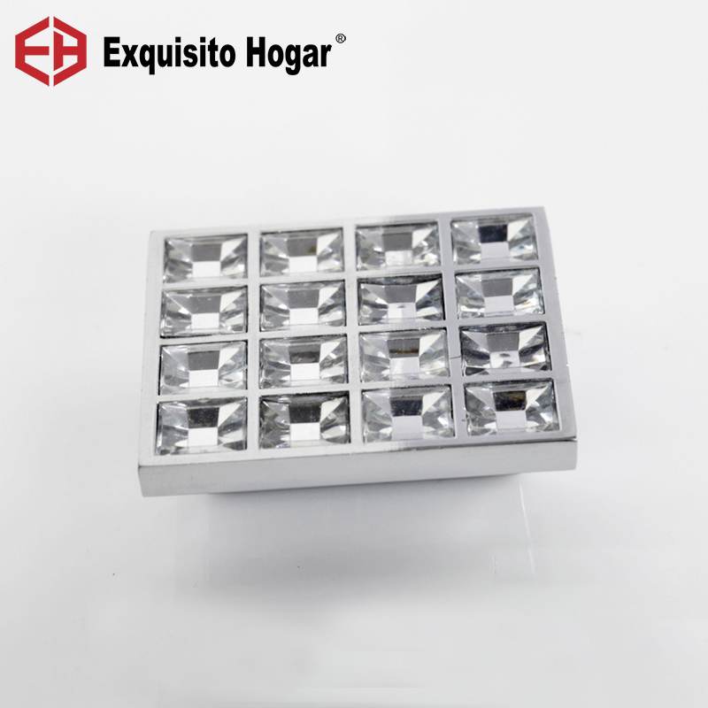 K9 Crystal Glass Chrome Furniture Knobs Cabinet Door Handle (Sizes: 50mm*50mm) 30pcs furniture fittings k9 clear crystal glass cabinet drawer knobs door handle diameter 30mm