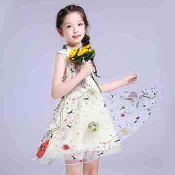 3eebe2f468b2f4d 2018 новое летнее платье для девочки платья детская одежда Большие Детские  платье принцессы для маленьких девочек Детская