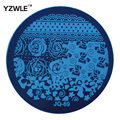 1 PC Optional JQ Series (75 Styles Available) DIY Nail Art Lace Flower Stencils Stamping Template Printing Image Plates (JQ-69)