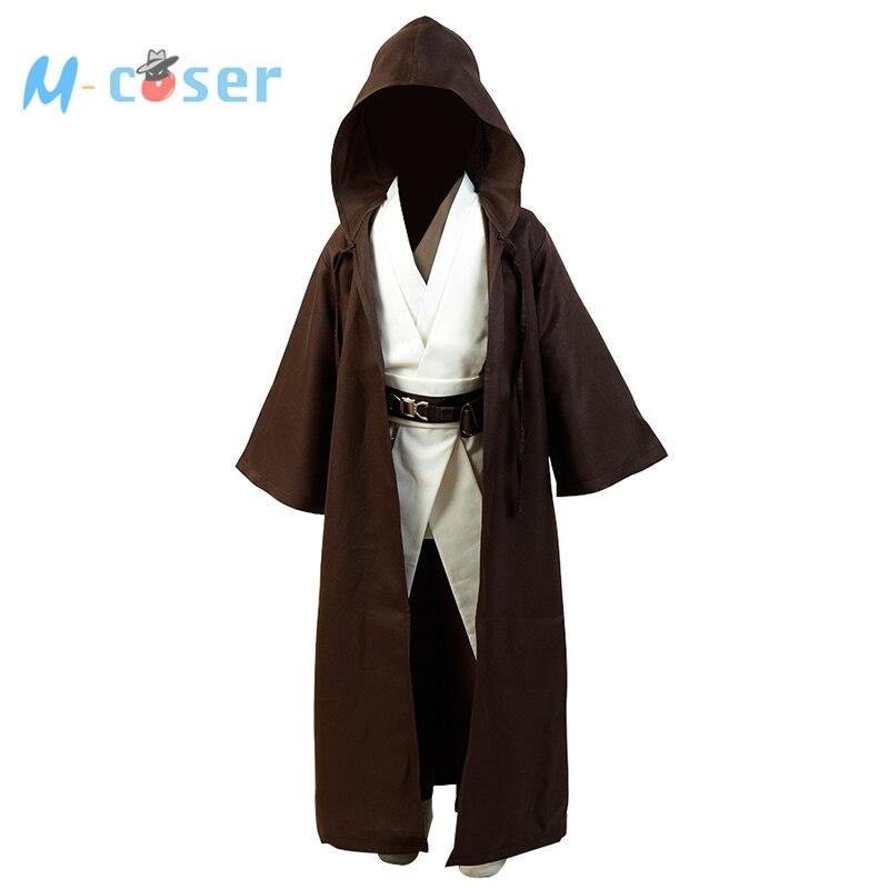 Traje de Star Wars Obi Wan Jedi robe Obi Wan Kenobi túnica capa ...