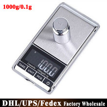 (Wholesale) 50pcs/lot Electronic LCD Display Pocket Digital Jewelry Scales 1000g x 0.1g 1kgx0.1g Weighing Scale(China)